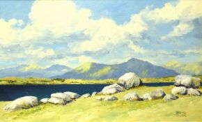 "•AR Terence Attridge Williams (1912-1998), ""Inishnee round stones 1978"", oil on board, signed"