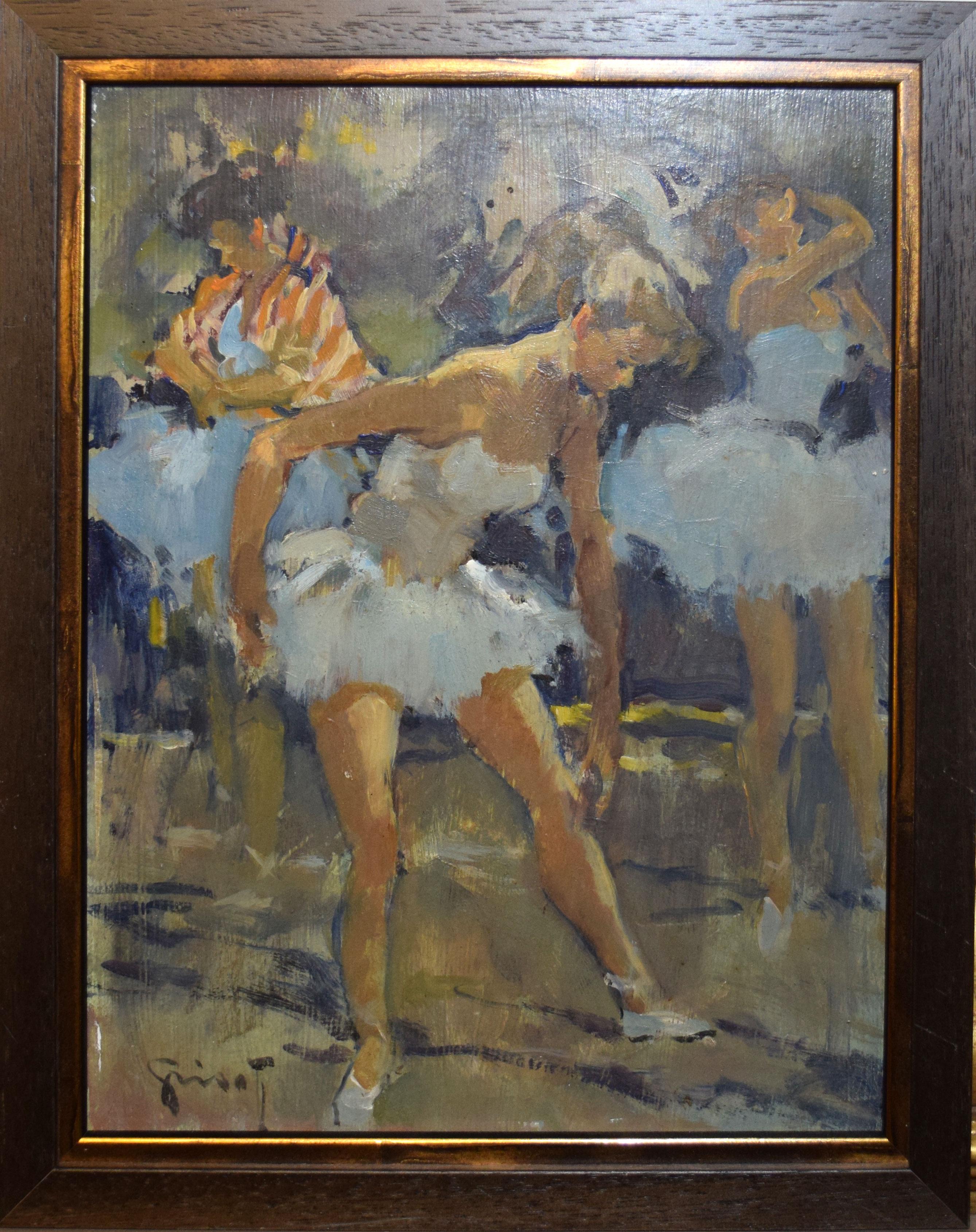 "•AR Pierre Grisot (1911-1995), ""Danseuse"", oil on board, signed lower left, 34 x 26cm"