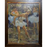 "•AR Pierre Grisot (1911-1995), ""Danseuse"", oil on board, signed lower left, 34 x 26cm"