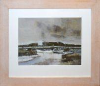 "•AR John Newland (contemporary), ""Morston, North Norfolk"", acrylic on board, 34 x 44cm."