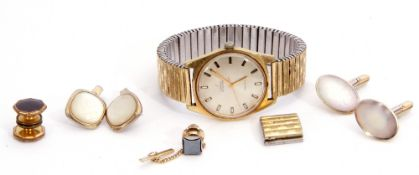 Gent's third quarter of 20th century gold plated Omega Automatic wrist watch with stainless steel