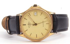 Gent's last quarter of 20th century Rotary gold plated quartz movement wrist watch with stainless