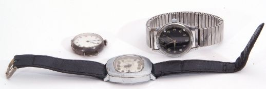 Mixed Lot: Gent's early/mid-20th century Rodania Incabloc wrist watch with green luminous hands