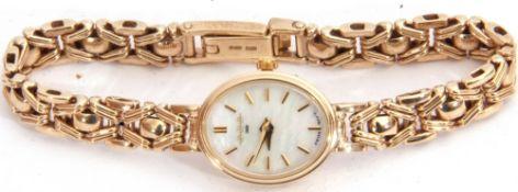 Ladies last quarter of 20th century/first quarter of 21st century 9ct gold cased W H H wrist