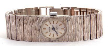Ladies third quarter of 20th century Summit hallmarked silver cased wrist watch with integral