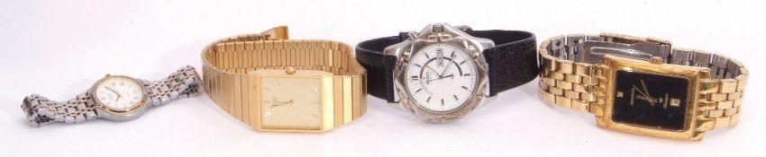 Mixed Lot: gent's last quarter of 20th century Seiko gold plated quartz movement wrist watch,