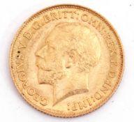 George V half sovereign dated 1913