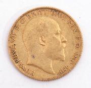 Edward VII half sovereign dated 1903