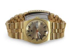 "Third quarter of 20th century Gents gold plated and stainless steel backed automatic, Tissot ""PR 516"
