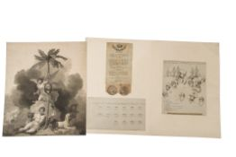 """After E Orme, """"Key to Mr Orme's print and picture of Lord Nelson's victory off the Nile on the"""