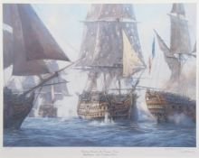 """AR Geoff Hunt, (born 1948), """"Nelson's ships - Victory and squadron in light airs"""", """"Victory breaks"""