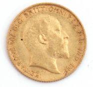 Edward VII half sovereign dated 1907