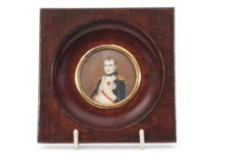 Miniature of Napoleon Bonaparte in wooden frame