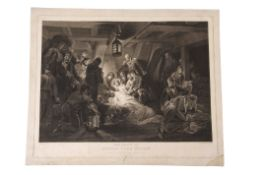 """After A W Devis, engraved by W Bromley, """"The death of Admiral Lord Nelson"""", black and white"""
