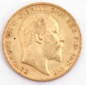 Edward VII half sovereign dated 1906