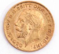 George V half sovereign dated 1911