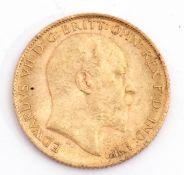 Edward VII half sovereign dated 1905
