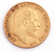 Edward VII half sovereign dated 1904