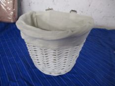 Harriet Bee Quinn Lily Willow Wicker Bicycle Basket, Finish: White, RRP £13.99