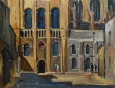 "Michael R Everitt, ""South Trancept - Norwich Cathedral"", oil on board, signed verso, 35 x"