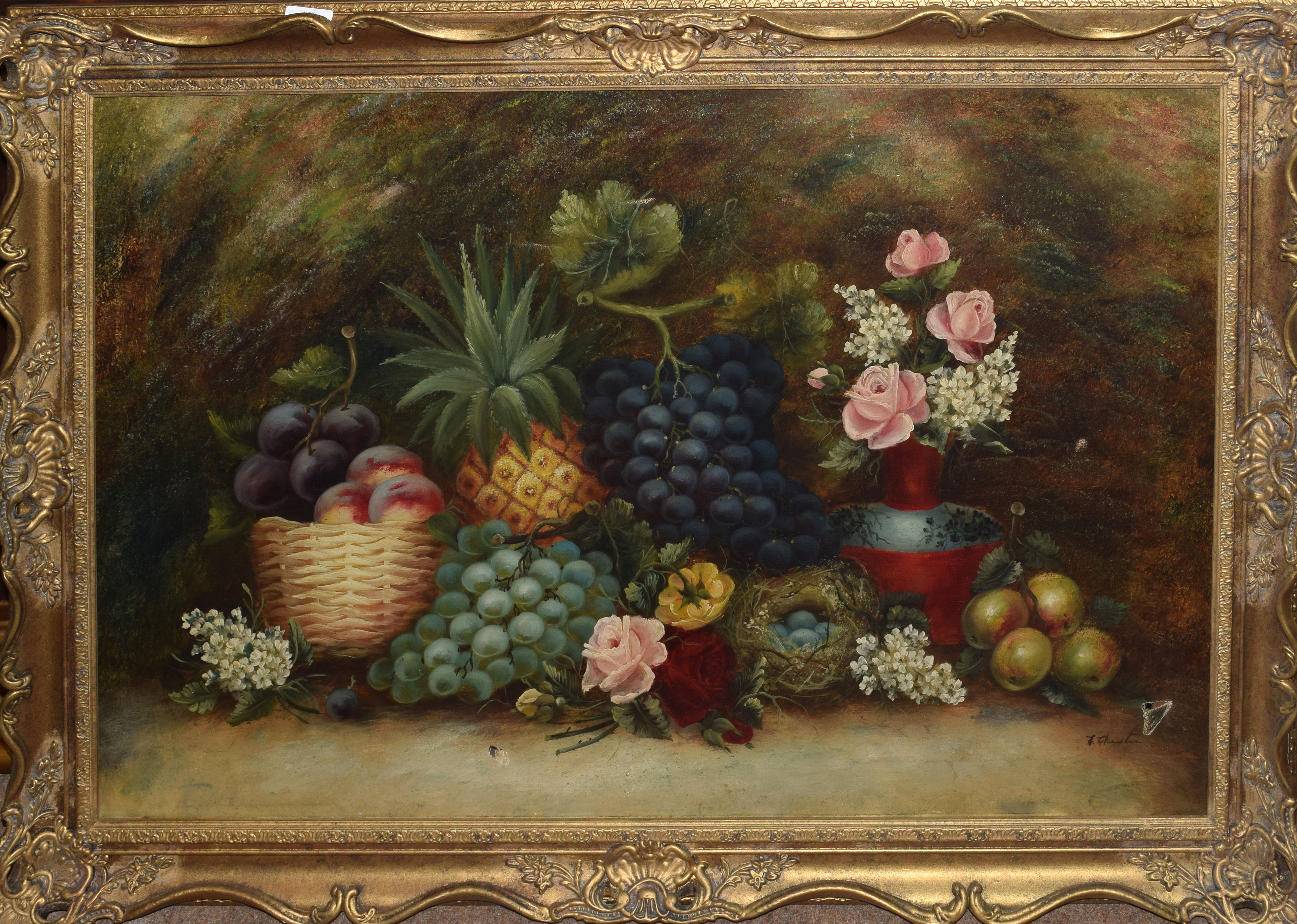 E Chester, Still Life Study, oil on canvas, signed lower right, 59 x 89cm