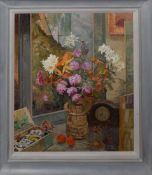 """Keith Johnson, """"Nearly eight"""", oil on board, signed lower centre, 55 x 48cm"""