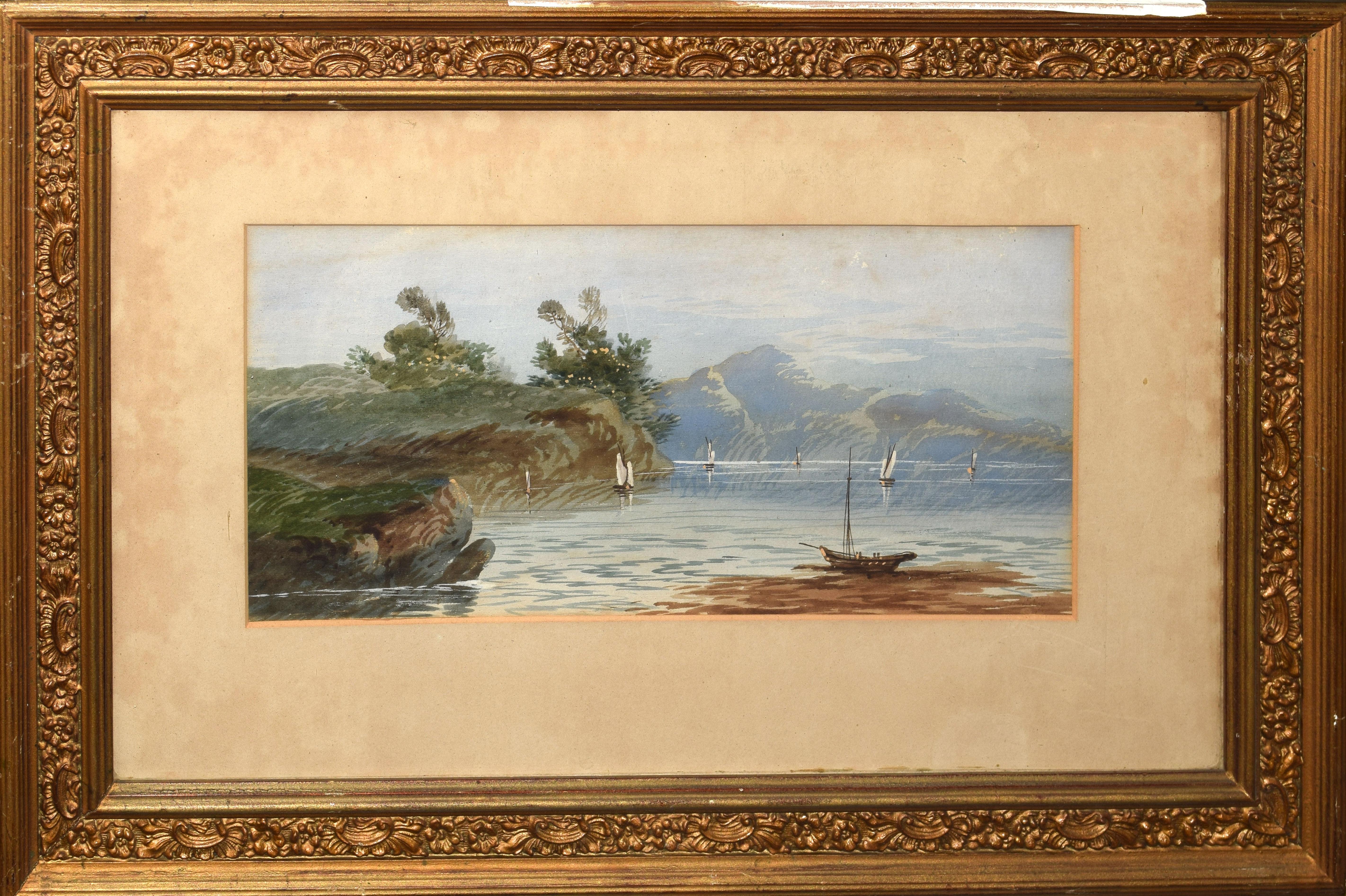 Edwin Earp, Lakeland scene, watercolour, signed lower right, 17 x 37cm