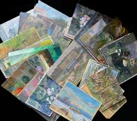 Keith Johnson, Norfolk Landscapes, etc, group of 40 oils on panel/card, some signed, assorted sizes,