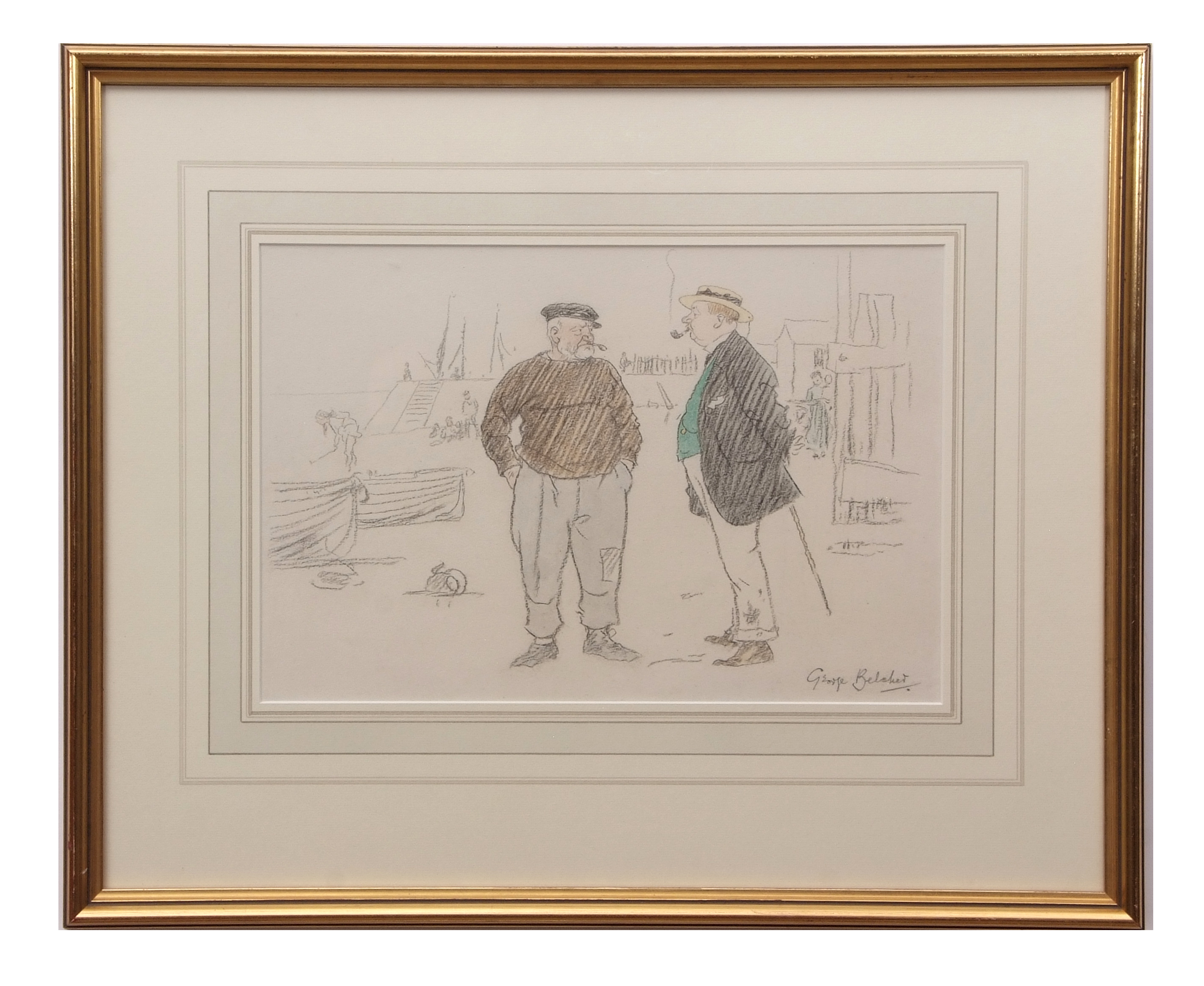 """George Belcher (1875-1947) """"Tell you what that is Sir, that there ,,,"""" pencil and watercolour, - Image 2 of 2"""