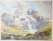 "Continental School (19th century), ""Maloja"", and other Swiss views, group of six good quality"