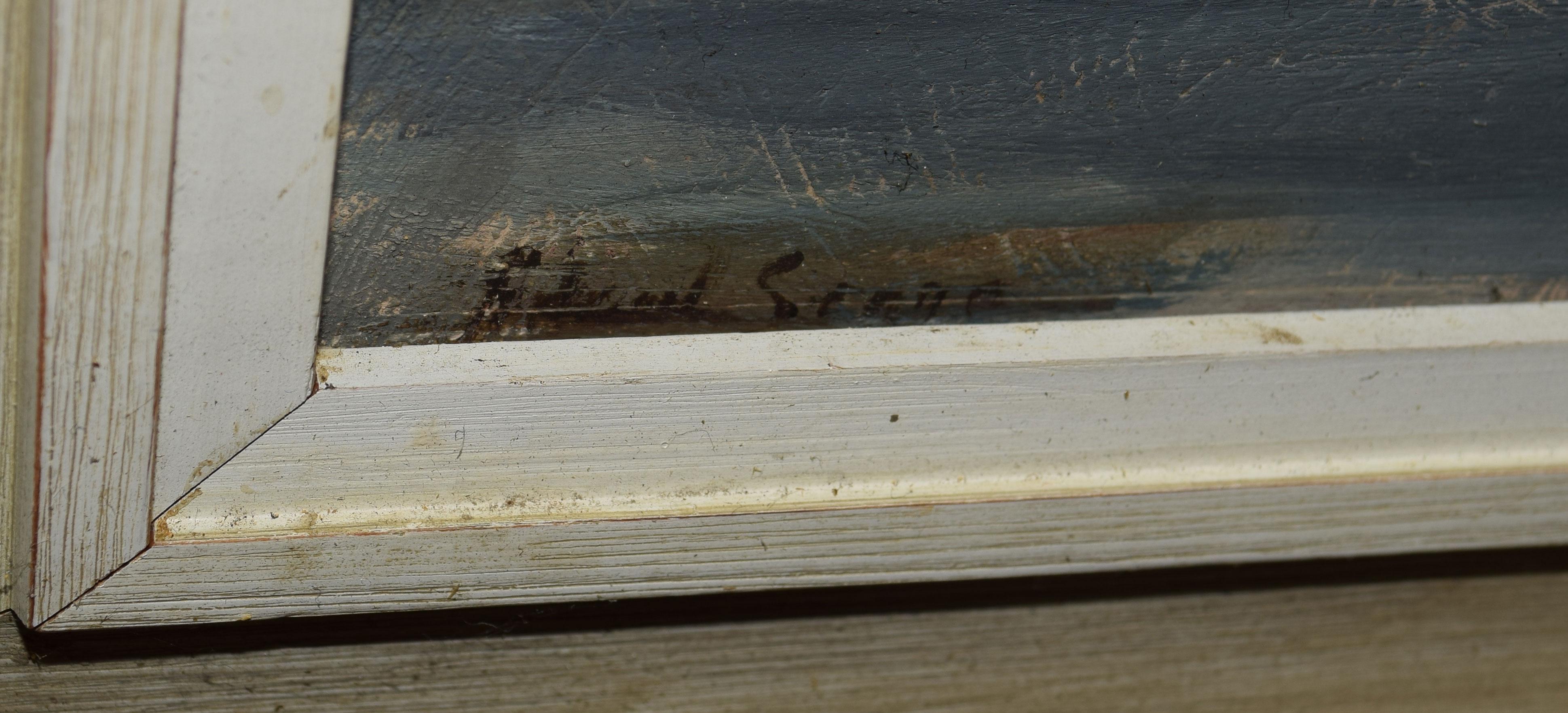 "Follower of Edward Seago, ""Pont Neuf, Paris"", oil on board, bears signature lower left, 36 x 47cm - Image 2 of 2"