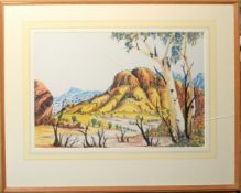 Australian School (20th century), Australian landscape, watercolour, 34 x 50cm