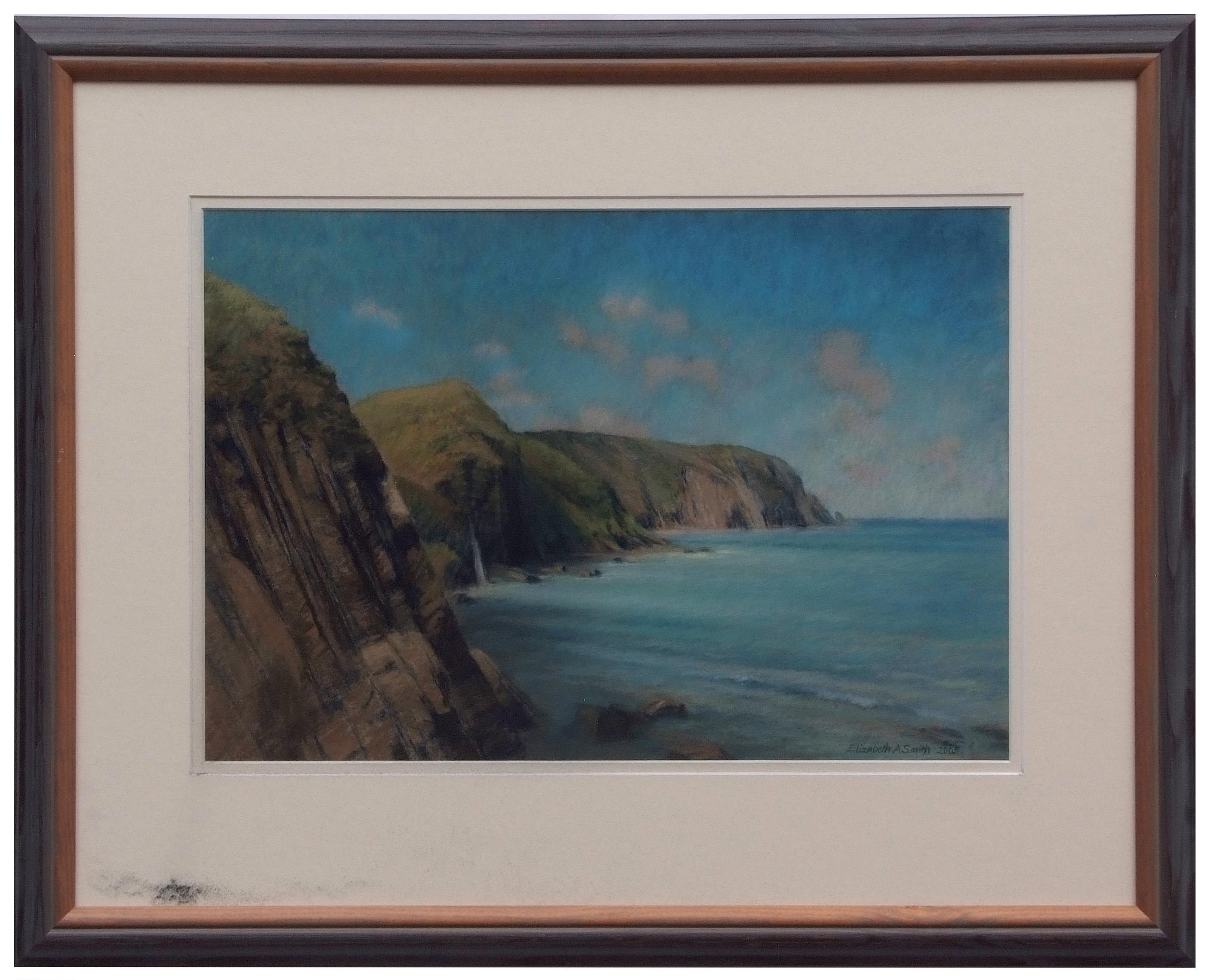 "AR Elizabeth A Smith, PRSMA (contemporary, British) ""Sun on the North Devon Coast from Mouth Mill"" - Image 2 of 2"
