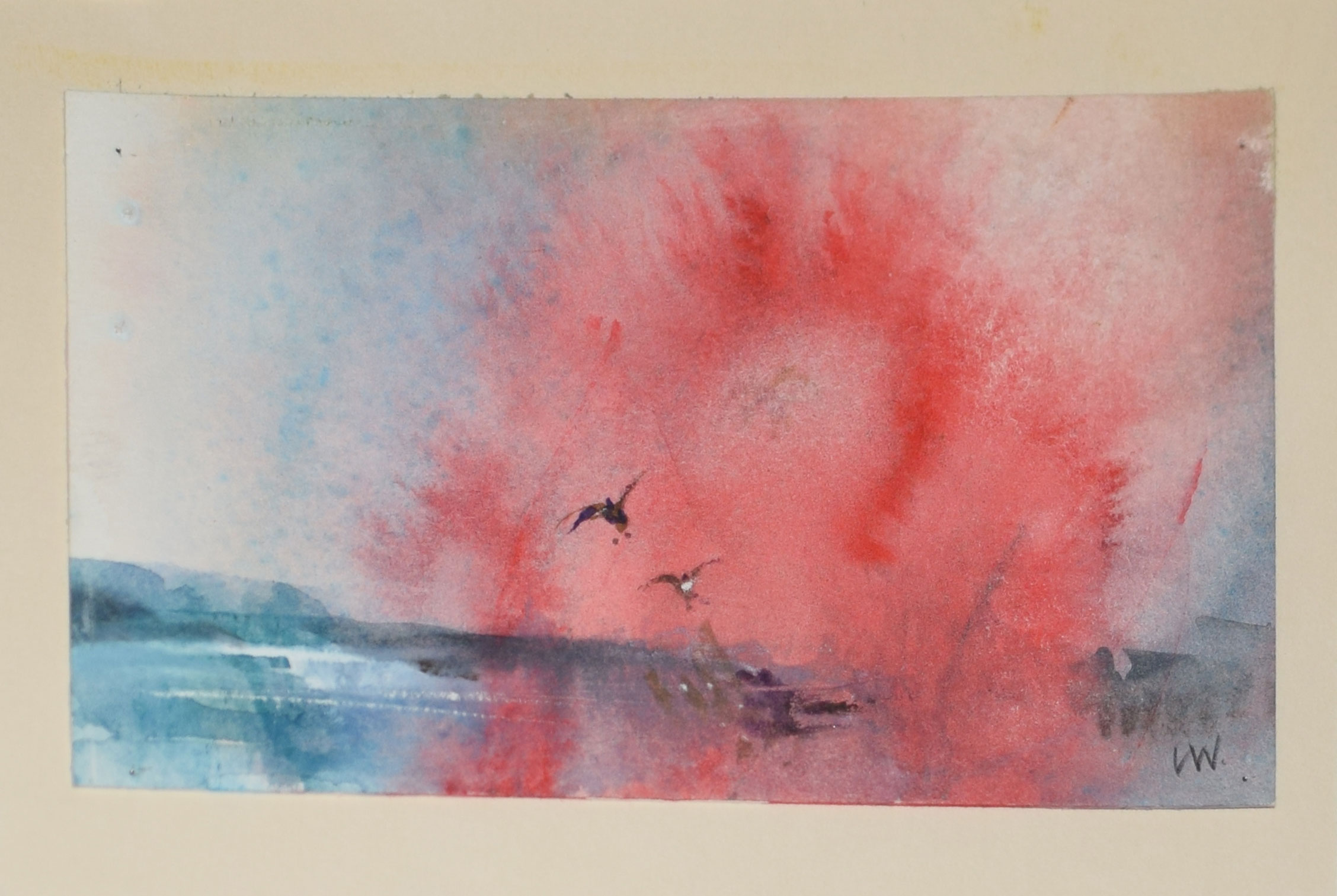 Leslie Worth, RWS, RBA, NEAC, ARCA, Geese alighting, watercolour, initialled lower right, 8 x - Image 3 of 3