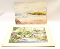 E Greig Hall, two signed watercolours, Anglesey and Red Bank Road, Grasmere, 38 x 51cm, both