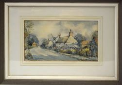 Charles E Savage, View of Friston - near Aldeburgh in Suffolk, watercolour, signed lower left, 16
