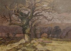 Keith Johnson, Landscape studies, group of five oils on board, some signed, assorted sizes (5)