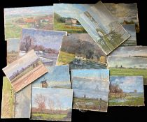 Keith Johnson, Norfolk Lanscapes etc, group of 20 oils on panel/card, some signed, assorted sizes,