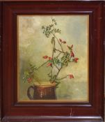 M Alston, Still Life, oil on canvas, signed lower right, 35 x 30cm