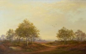 Jack Pulfer, Norfolk Landscape, oil on canvas, signed lower right, 24 x 33cm