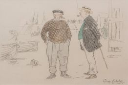 """George Belcher (1875-1947) """"Tell you what that is Sir, that there ,,,"""" pencil and watercolour,"""