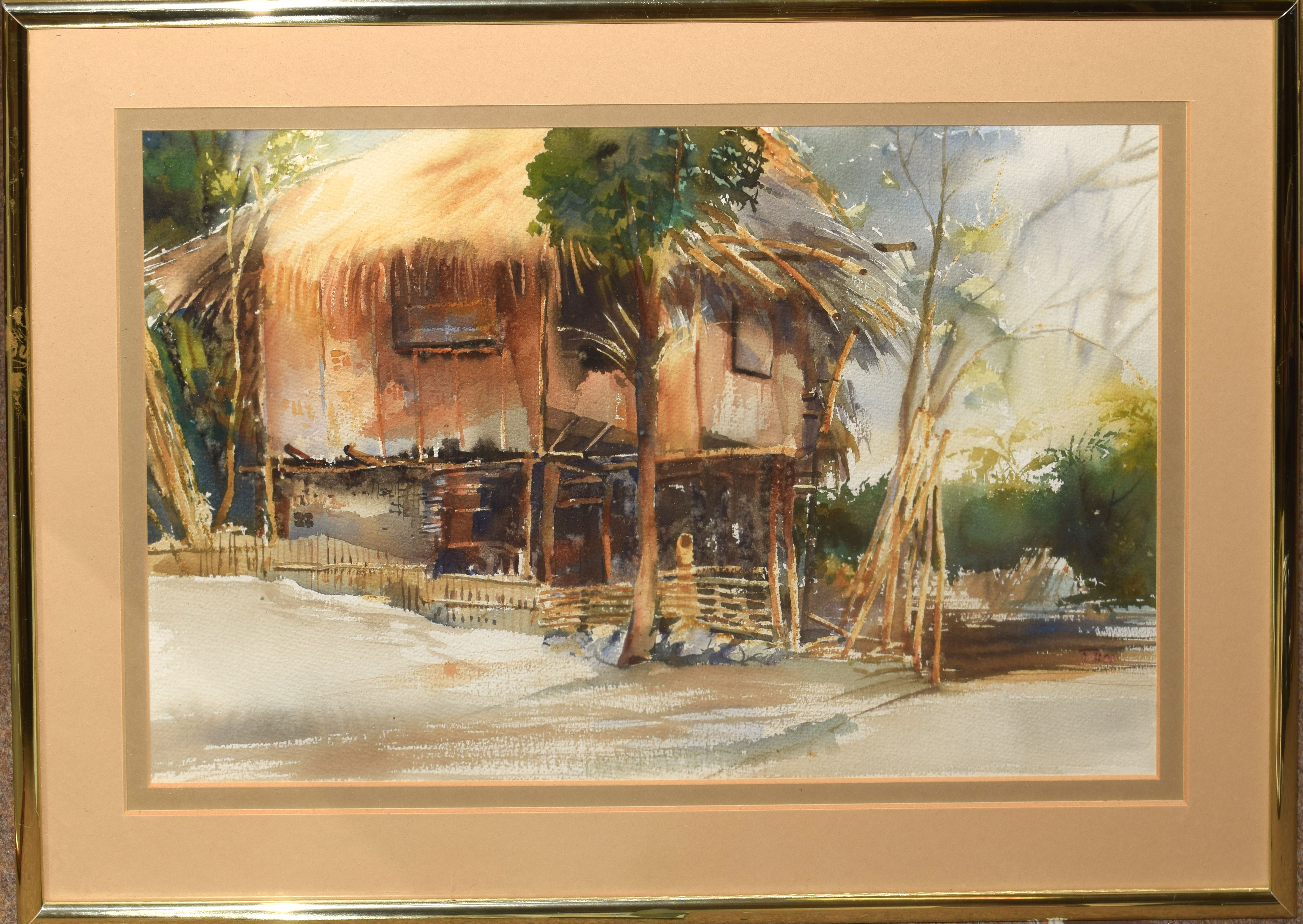 Caribbean Scene, watercolour, indistinctly signed lower right, 34 x 53cm