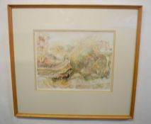 """Barry Green (20th century), """"Dorset landscape after storm"""" watercolour, signed, dated 88 and"""