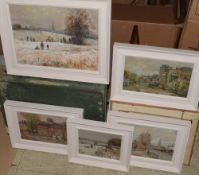 Keith Johnson, Norwich views, group of five oils on board, all signed, assorted sizes (5)