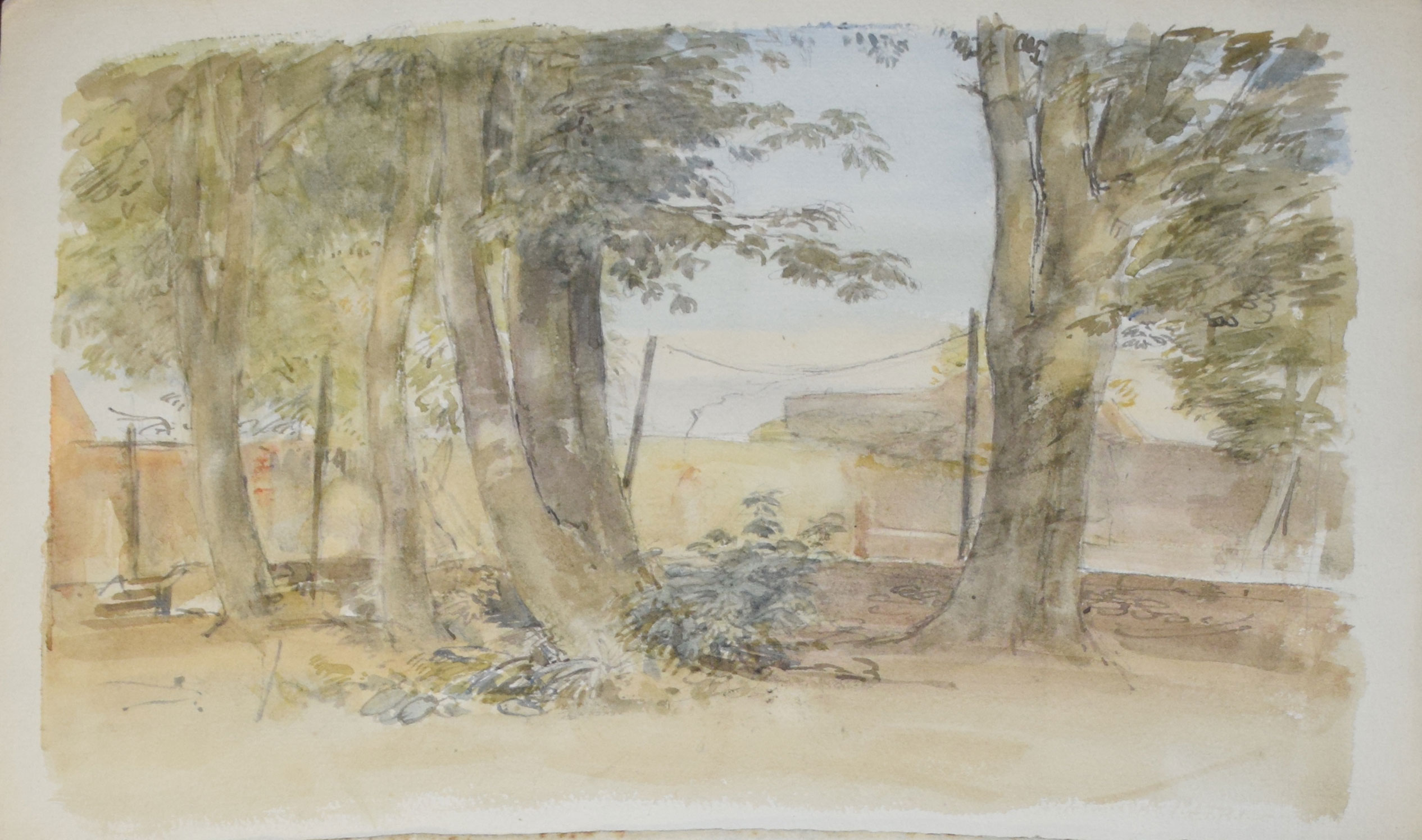 "Sir Walter Westley Russell, RA, RWS, ""Shoreham, Sussex"", watercolour, signed lower left, 25 x - Image 3 of 3"