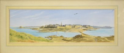 "Andrew Dibben, ""St Malo from The Ile Du Grand"", watercolour, signed and dated '94"