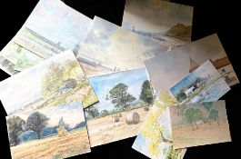 Keith Johnson, Norfolk Lanscapes etc, some signed and titled, group of 30 watercolours, each