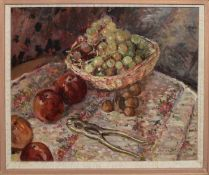 Keith Johnson, Still Life studies, group of four oils on board, three signed, assorted sizes (4)
