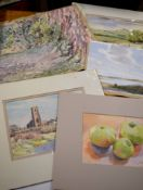 John Rowbottom (20th century) Landscapes etc group of five watercolours, all signed, assorted sizes,