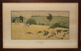 "After Cecil Aldin, ""The First"", coloured print, published by Thomas McLean, 1901, 30 x 62cm"